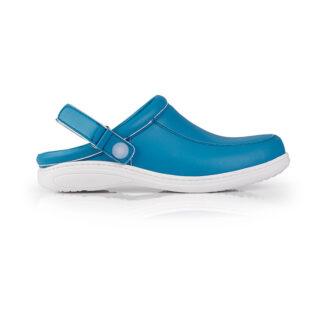 Calçado Profissional Socas em pele soft Sophia 04 azul celeste