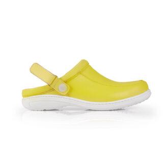 Calçado Profissional Socas em pele soft Sophia 09 amarelo